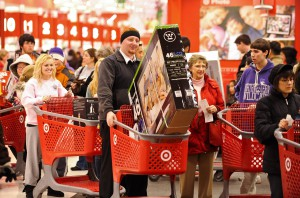 Black Friday shoppers at a Target store to kick off the holiday shopping season